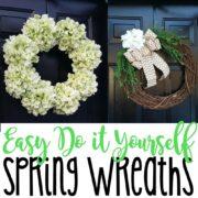 DIY 10-Minute Spring Wreaths Tutorial
