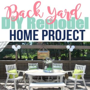 Read how we made-over our backyard