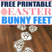 Free Printable Easter Bunny Feet Template