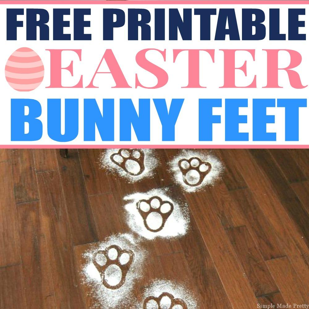 picture relating to Printable Easter Bunny Footprints known as No cost Printable Easter Bunny Toes Template - Straightforward Intended Fairly