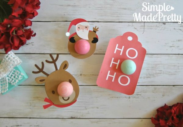 These printable Christmas themed EOS lip balm cards are perfect to give as gifts to teachers, neighbors, family and friends and anyone that likes the all-natural EOS lip balms.
