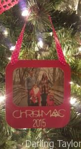 Paper Craft Christmas Frame Ornament