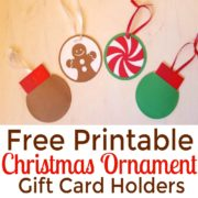 DIY Ornament Gift Card Holders – Free Printables