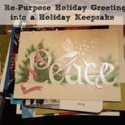 How to Re-purpose Holiday Greeting Cards into a Holiday Keepsake