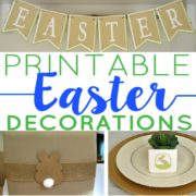 Easter Printable Decor and Party Supplies