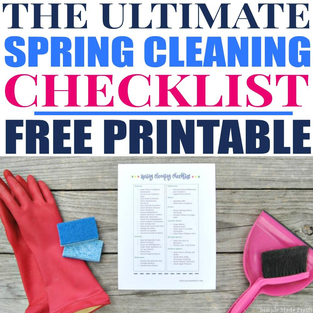 The Ultimate Nursery Decorating Checklist: The Ultimate Spring Cleaning Checklist