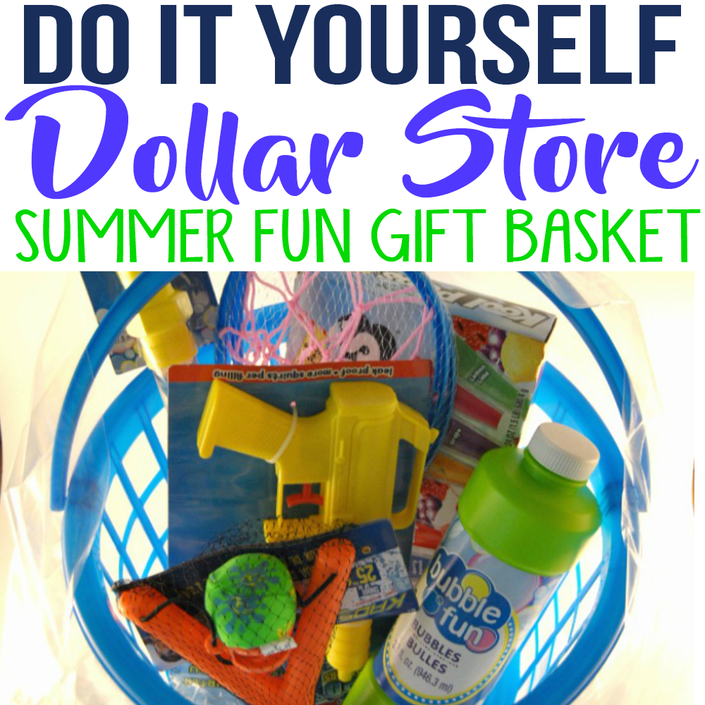 DIY Dollar Store Outdoor Summer Fun Gift Basket