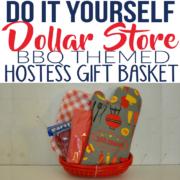 DIY Dollar Store BBQ Themed Gift Basket