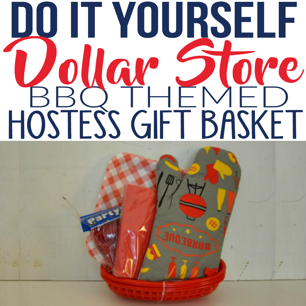 Diy Dollar Store Bbq Themed Gift Basket Simple Made Pretty