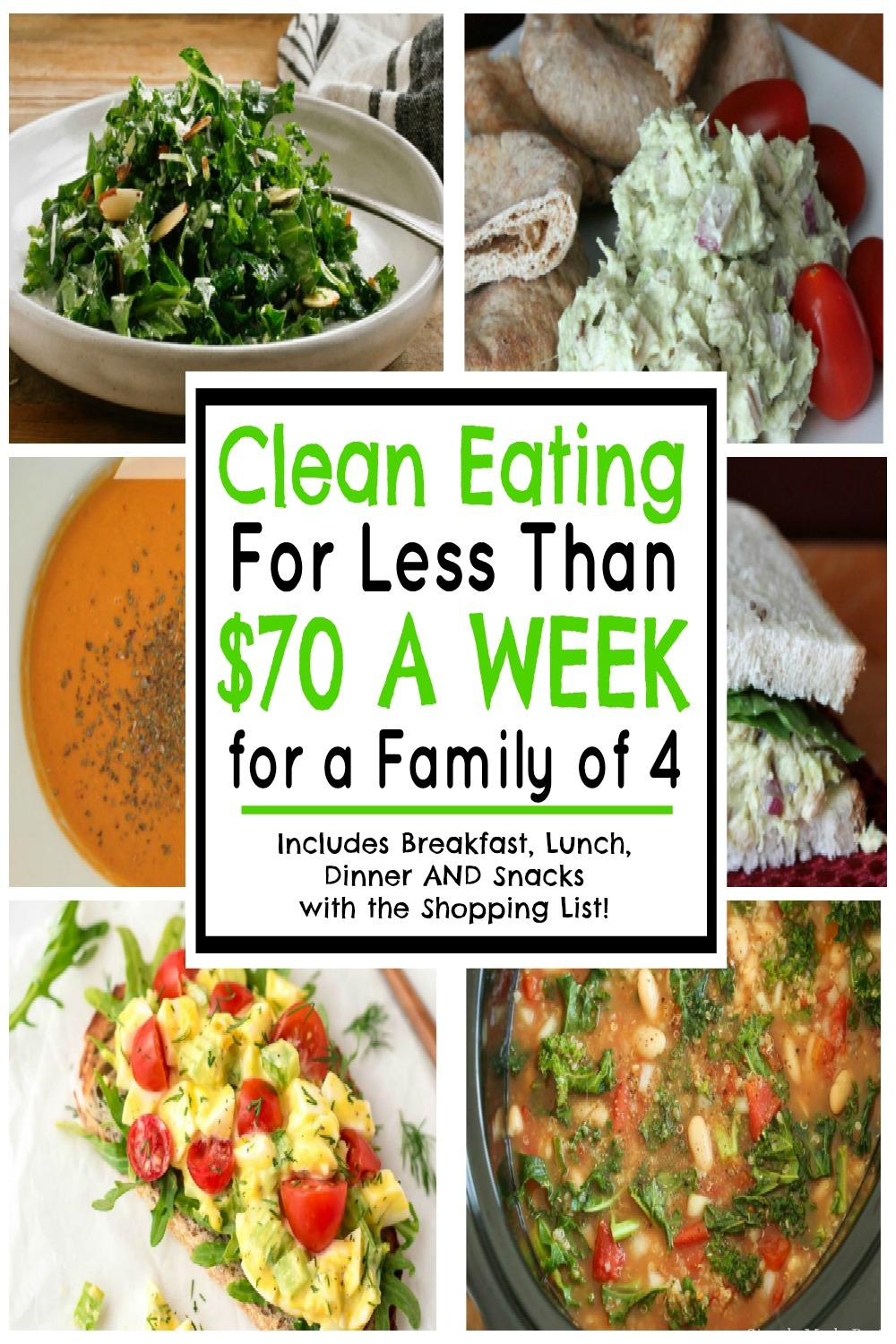 Clean Eating For Less Than 70 A Week For A Family Of 4 May 2019
