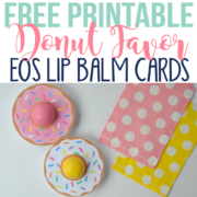 Free Printable Donut EOS Lip Balm Cards