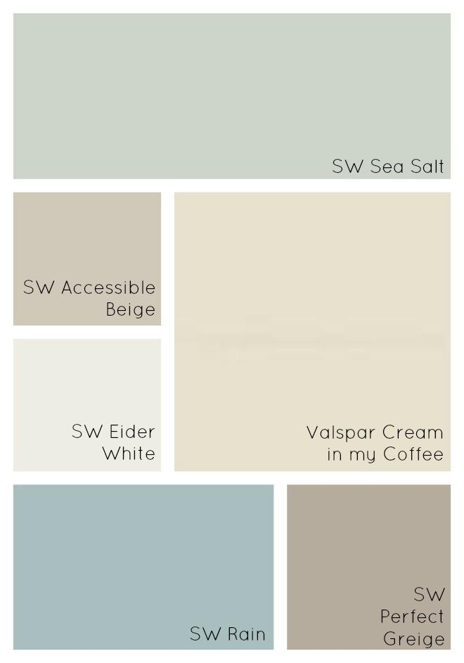 I love these paint color ideas! I used these paint colors for the bathroom but these blue paint colors will look good in our living room and kitchen too!