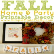 Fall Home and Party Decor Printable Package