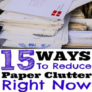 Even with our digitally advanced world, many still struggle with paper clutter at home and at work. Here are 15 ways you can reduce paper clutter right now. de-clutter paper, de-clutter, organize paperwork, organize papers, mail organization, reduce paper