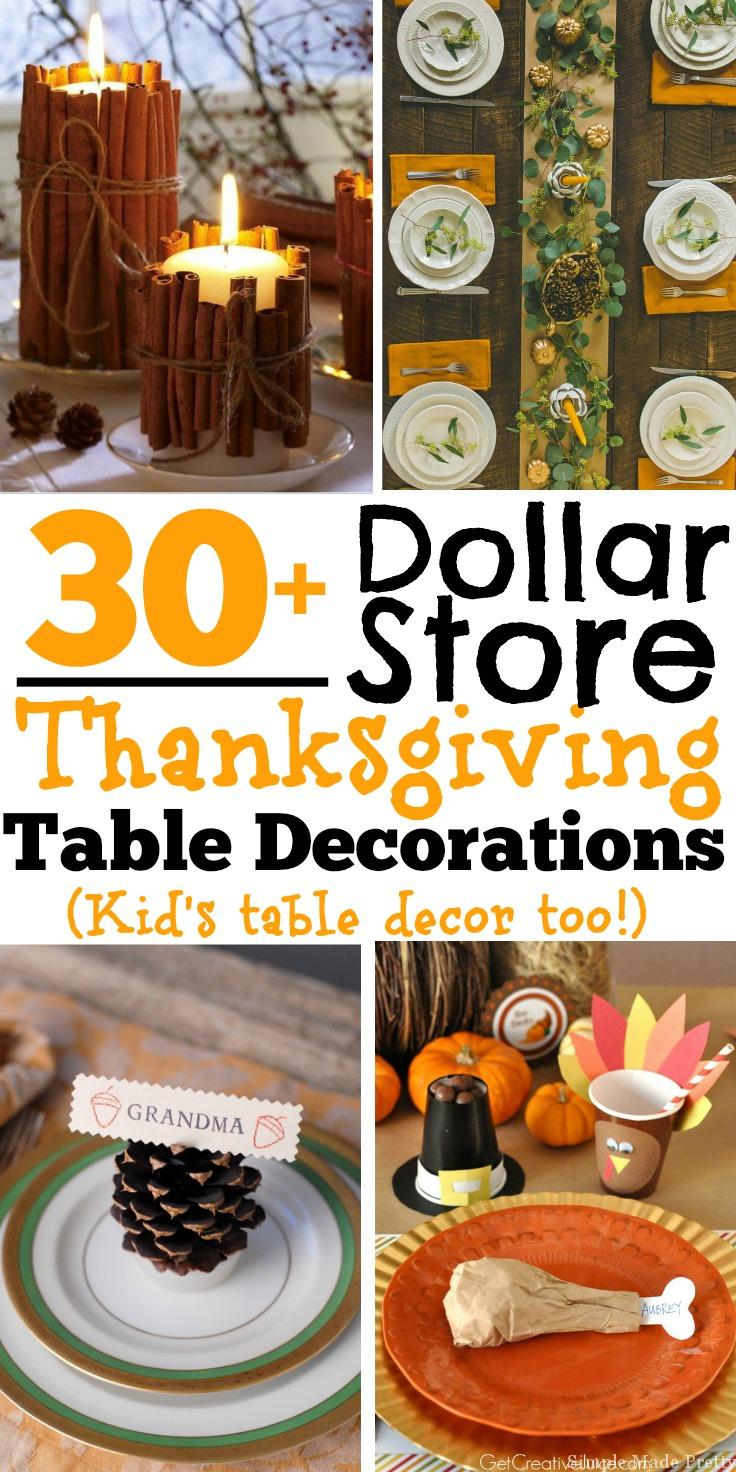 30 Diy And Dollar Store Thanksgiving Table Decorations Kid S Table