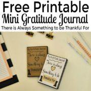 Free Printable Mini Gratitude Journal