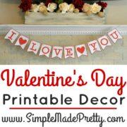 Valentine's Day Printable Decor