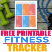Free Printable Fitness Measurement Tracker
