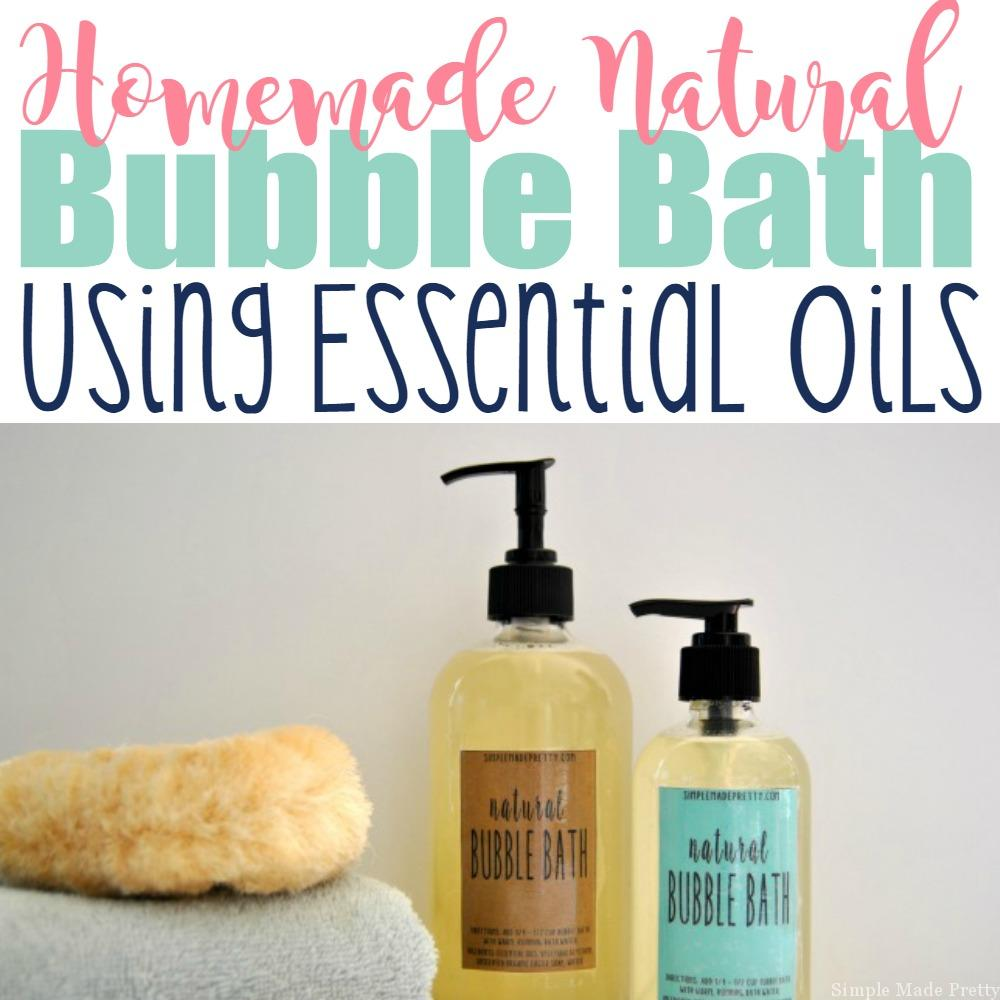 Homemade All-Natural Bubble Bath Using Essential Oils