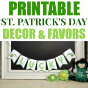St. Patrick's Day Printable Decor and Favors