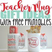 5 Genius DIY Teacher Mug Gift Ideas with Free Printables – Crazy Cool Mugs