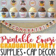 Printable Emoji Graduation Party Supplies