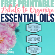 Free Printable Labels to Organize Essential Oils Supplies