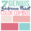 I love these feminine paint colors in our bedroom. It gives just the right touch of pink that I was looking for and my daughter loves these paint colors for her tween bedroom.
