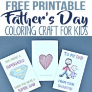 Free Printable Father's Day Greeting Cards Coloring Craft for Kids