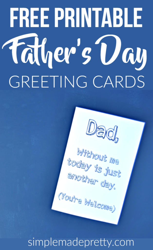 Free Printable Father's Day Greeting Cards Coloring Craft ...