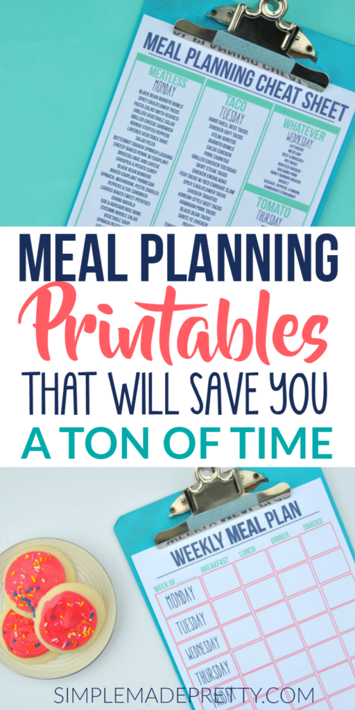 These meal planning printables are a game changer! I just love how organized I am now since I'm a a beginner at meal planning. HEr meal planning strategies have saved me so much time and money!