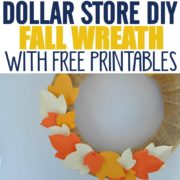 DIY Dollar Store Burlap Fall Wreaths with Free Printables