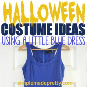 30 Last Minute Halloween Costume Ideas Using a Blue Dress