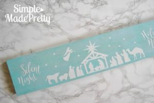 DIY Wooden Nativity Silhouette with Free Cricut Cut File