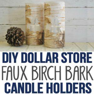 DIY Dollar Store Faux Birch Bark Vases