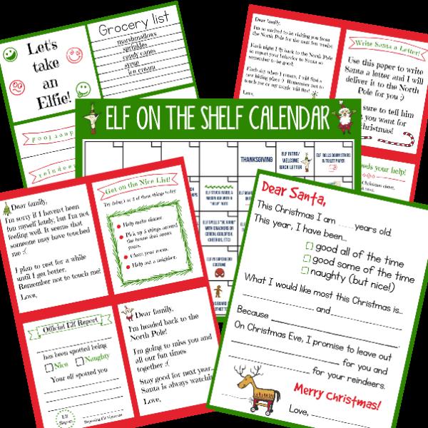 Elf on the shelf ideas for kids funny. Printables for elf on the shelf.