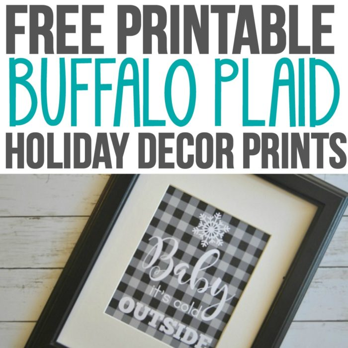 Free Printable Buffalo Plaid Home Decor Prints