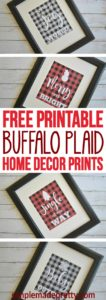 I love buffalo plaid and these DIY home decor prints were the perfect finishing touch to our Christmas decorations. Plaid home decor has been everywhere this holiday so I had mine printed as over-sized artwork (engineer prints at Staples). It was super cheap and easy ($3!) to make over sized art for the living room! If you are on a budget, this is the perfect home decor DIY!