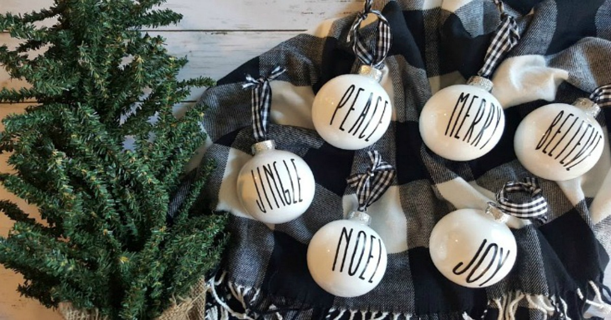 Diy Rae Dunn Inspired Christmas Ornaments Simple Made Pretty
