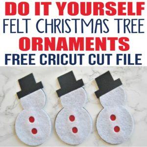 DIY Felt Christmas Tree for Kids with Free Cricut Cut File
