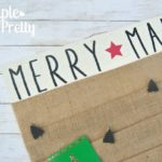 DIY Christmas Card Display Holder