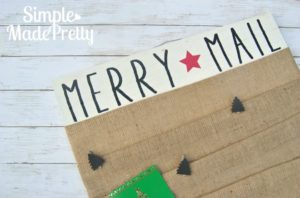 DIY Christmas Card Display Holder
