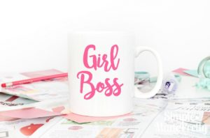 I love this motivating girl boss mug!