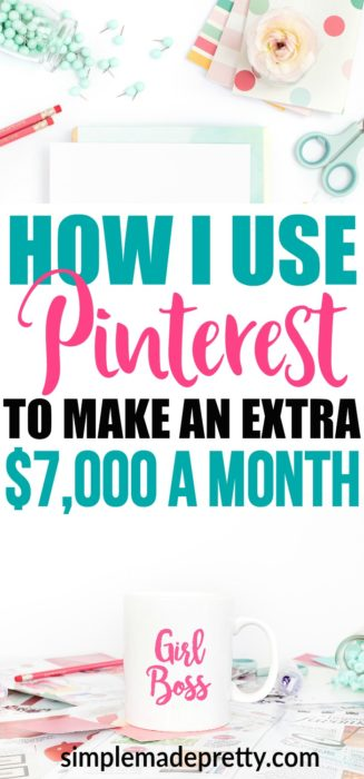 I've been blogging for a year and not making money until I found this post. Once I implemented these changes my blog grew and I started making a part-time income. Learn how to make money blogging as a stay at home mom and get extra cash by using her Pinterest strategy!
