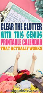 I was feeling overwhelmed when it came to decluttering and home organization until I found this calendar to organize my home in only 30 days! This guide helped me simplify the process and we were able to minimize and reduce the stuff in our small home.