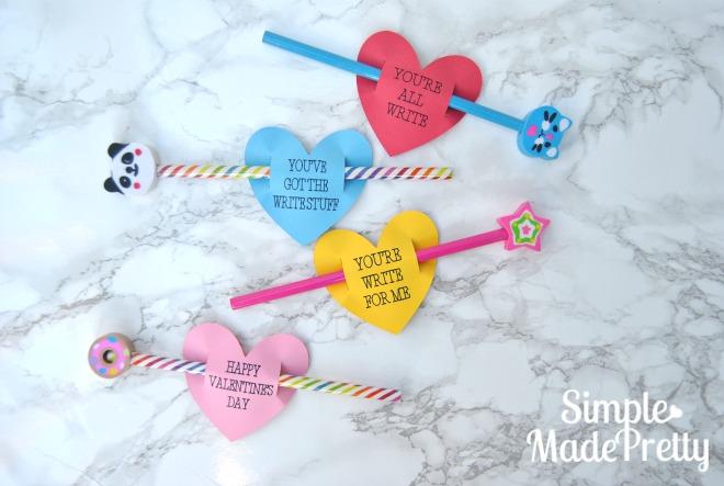 Free Printable Pencil Valentine Cards