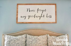 Learn how to make this DIY farmhouse style wall picture art for less than $12!