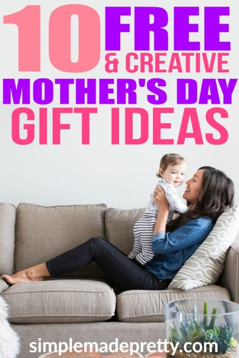 These easy Mother's Day gift ideas are free and creative ideas including DIY, homemade, craft ideas for kids, Mother's Day gift from kids for grandma and mom. Mother's Day | gifts for her | gifts for mom | #1 mom | free mother's day ideas | mother's day crafts for kids