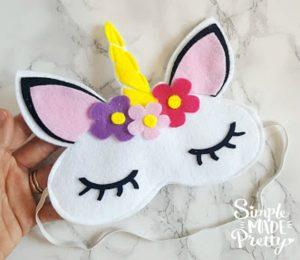 No Sew Felt Unicorn Sleep Mask