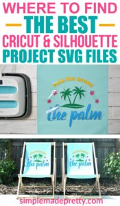 Discover some of the best SVG files for your Cricut or Silhouette machines and learn how to make these fun personalized outdoor lounge chairs! Silhouette projects for beginner, cricut projects to sell, silhouette projects vinyl, cricut projects beginner, cricut ideas, outdoor chairs diy easy, iron on vinyl cricut, iron on vinyl projects, htv ideas, htv shirts, heat transfer vinyl ideas #silhouetteprojects #cricutsvgfiles #makersvillage #craftposure #svgfiles #diyoutdoorchairs
